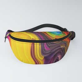 Melting Pot of Colors Abstract Fanny Pack