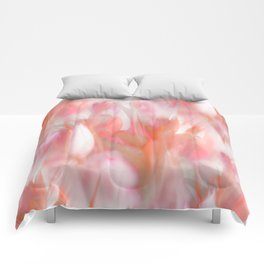 Pink Tulips Abstract Nature Spring Atmosphere Comforters