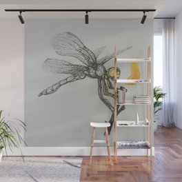 Fire-breathing Dragonfly Wall Mural