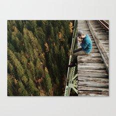 Bridge Sitting Canvas Print