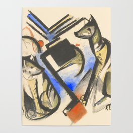 """Franz Marc """"Two Wolves"""" Poster"""
