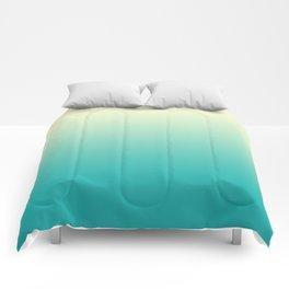 Ombre Cyan Sea Comforters