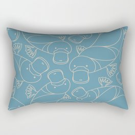 Minimalist Platypus Rectangular Pillow