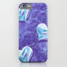 Blue hearts pattern Slim Case iPhone 6s