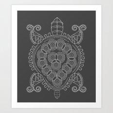 Pattern Tortoise  Art Print