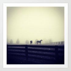 Horses of the Mist Art Print