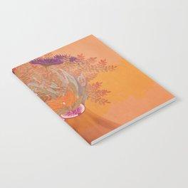 Woman in flowers III Notebook