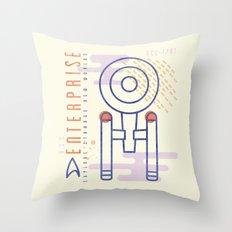 MNML: NCC-1701 Throw Pillow