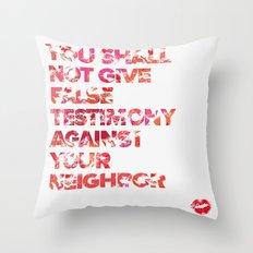The Ninth Commandment Throw Pillow