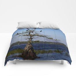 Cormorant Tree Comforters