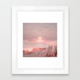 Pastel desert Framed Art Print
