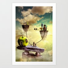 The place to be Art Print