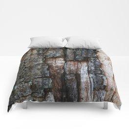 Tree Bark close up Comforters
