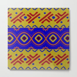 Ethnic African Knitted style design Metal Print