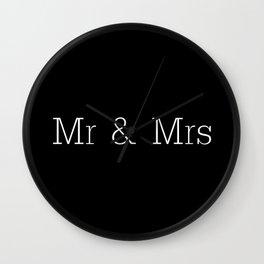 Mr & Mrs Monogram Standard Wall Clock