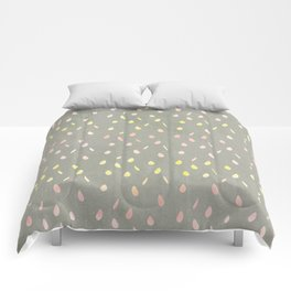Modern hand painted pink yellow watercolor ombre brushstrokes Comforters
