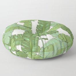 Banana Leaf Print Floor Pillow