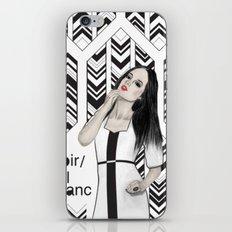Noir et blanc iPhone & iPod Skin