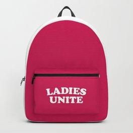 Ladies Unite Feminist Quote Backpack