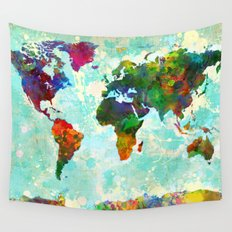 World Map - 1 Wall Tapestry