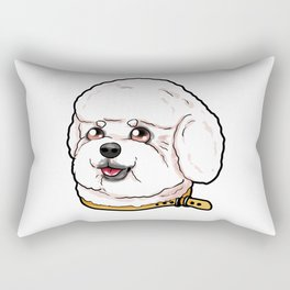 Bichon Frise Dog Puppy Cartoon Comic funny Present Rectangular Pillow