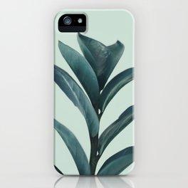 Teal Mint Plant iPhone Case