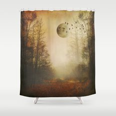 mOOn meaDow Shower Curtain