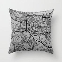 Glasgow map Throw Pillow
