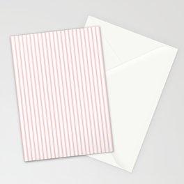 Pink Mellow Rose Mattress Ticking Narrow Striped Pattern - Fall Fashion 2018 Stationery Cards