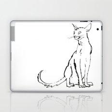 Skinny cat illustration Laptop & iPad Skin