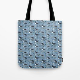 Geese in the rain - blue Tote Bag