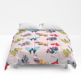 Funny butterflies illustration Comforters