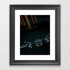 TRON LIGHT JET Framed Art Print