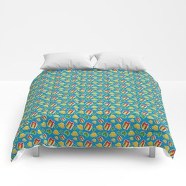 Christmas Presents In The Mist Of Mistletoe And Bells Decor Comforters