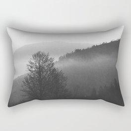 December in the mountains Rectangular Pillow