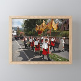 Procession Framed Mini Art Print