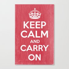 Keep Calm and Carry On - Red Book Canvas Print