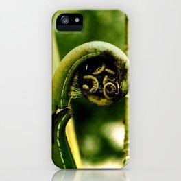 Fiddlehead Fern photo iPhone Case