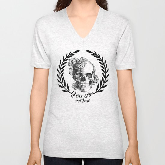 You are not here Unisex V-Neck