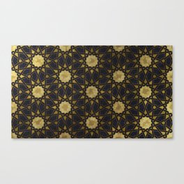 Islamic decorative pattern with golden artistic texture Canvas Print