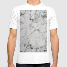 Marble Mens Fitted Tee White MEDIUM