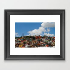 Colorful City Framed Art Print