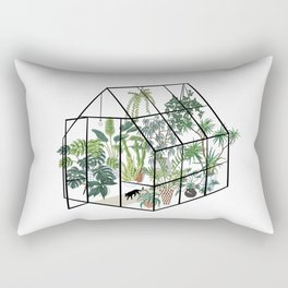 greenhouse with plants Rectangular Pillow