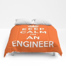 Keep Calm I'm An Engineer Comforters