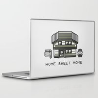 home sweet home Laptop & iPad Skins featuring Home Sweet Home  by Zeke Tucker