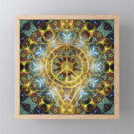 Sacred Geometry Fractal Mandala Framed Mini Art Print