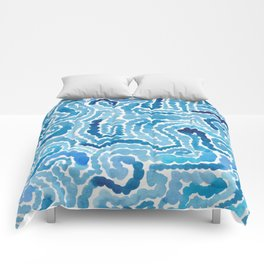 Blue Painting Comforters