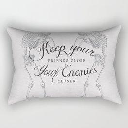 Friends & Enemies Rectangular Pillow