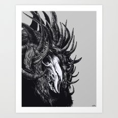 lord with 1000 horns Art Print