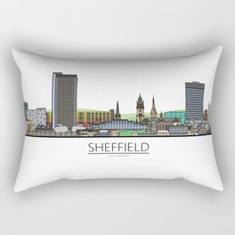 Sheffield Icons - Skyline Rectangular Pillow